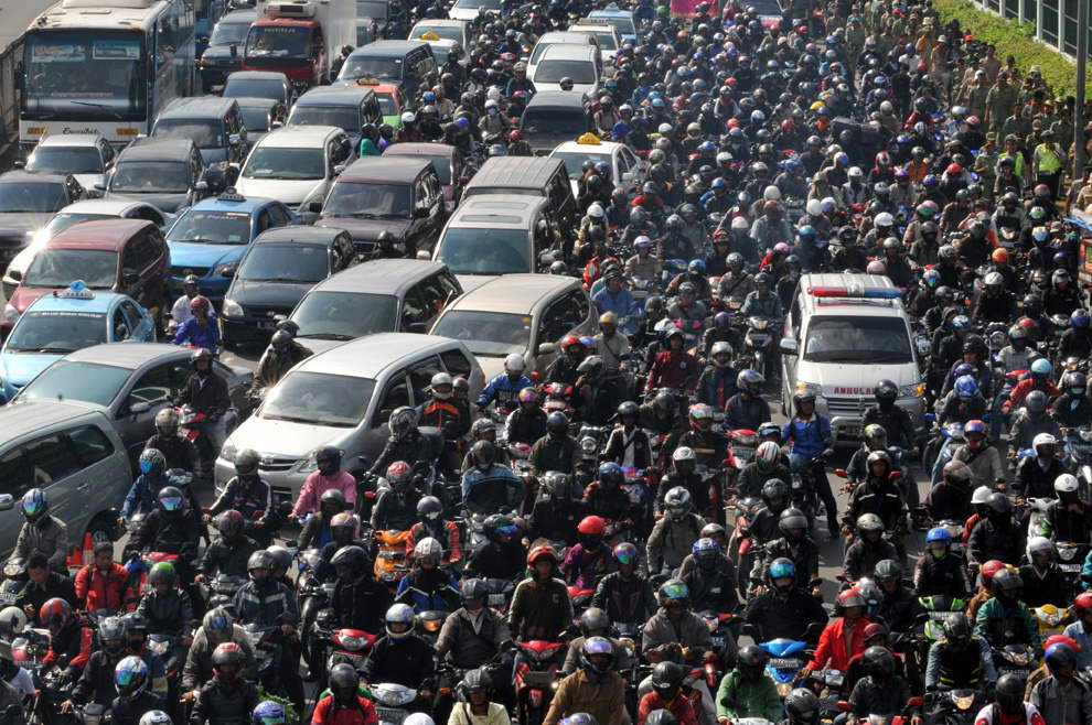 Motorbikes in Indonesia