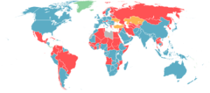 Map of Mandatory Military National Service