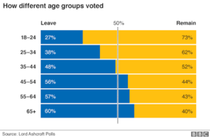 BRExit Young People Voted to Remain