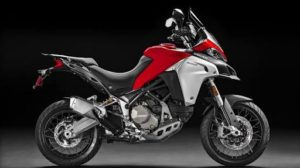 Picture of a Red and White Multistrada Enduro